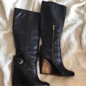 Like new Coach leather Dorothy heeled boots